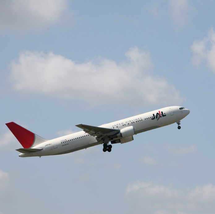 This is a Japanese jet in the air.